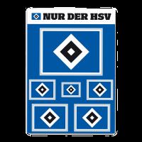 HSV Aufnäher Hamburger SV Raute